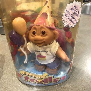 New vintage happy birthday troll doll.